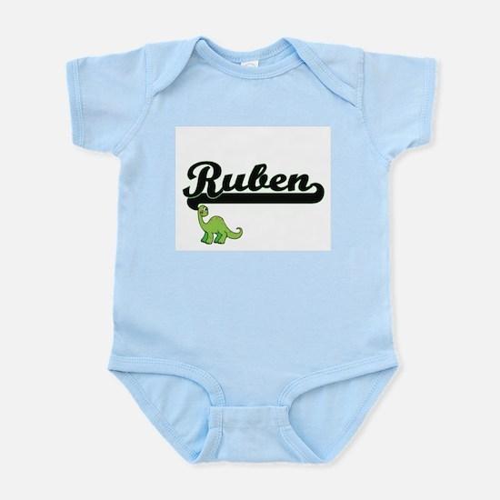 Ruben Classic Name Design with Dinosaur Body Suit