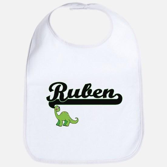 Ruben Classic Name Design with Dinosaur Bib