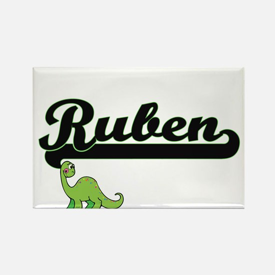 Ruben Classic Name Design with Dinosaur Magnets