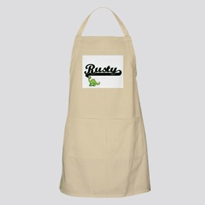 Rusty Classic Name Design with Dinosaur Apron