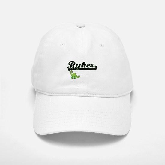 Ryker Classic Name Design with Dinosaur Baseball Baseball Cap