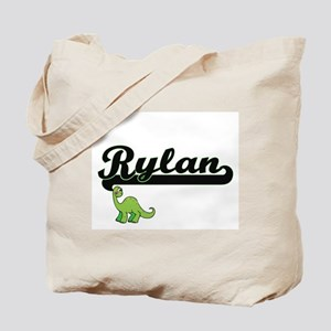 Rylan Classic Name Design with Dinosaur Tote Bag
