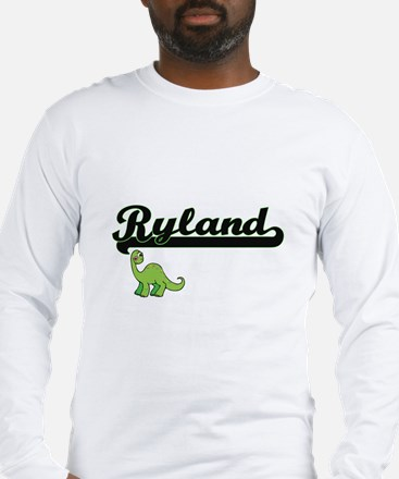 Ryland Classic Name Design wit Long Sleeve T-Shirt