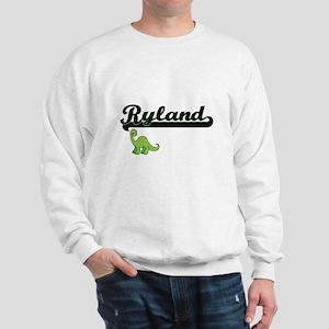 Ryland Classic Name Design with Dinosau Sweatshirt