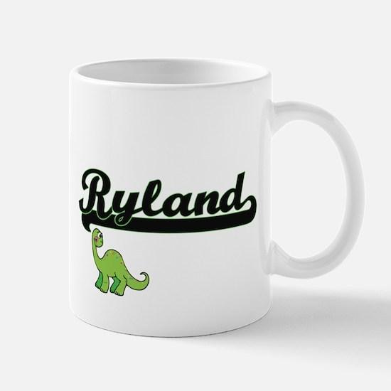 Ryland Classic Name Design with Dinosaur Mugs