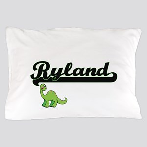 Ryland Classic Name Design with Dinosa Pillow Case