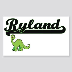 Ryland Classic Name Design with Dinosaur Sticker