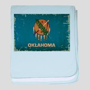 Oklahoma State Flag baby blanket