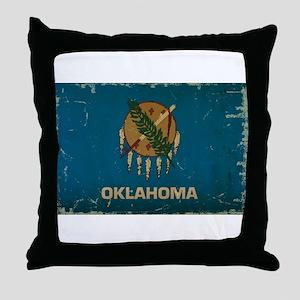 Oklahoma State Flag Throw Pillow