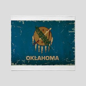 Oklahoma State Flag Throw Blanket