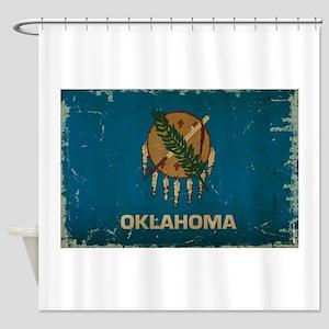 Oklahoma State Flag Shower Curtain