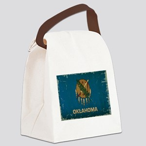Oklahoma State Flag Canvas Lunch Bag
