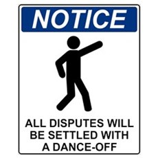 Notice Dance Off Canvas Art