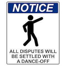 Notice Dance Off Poster