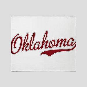 Oklahoma Script Font Garnet Throw Blanket
