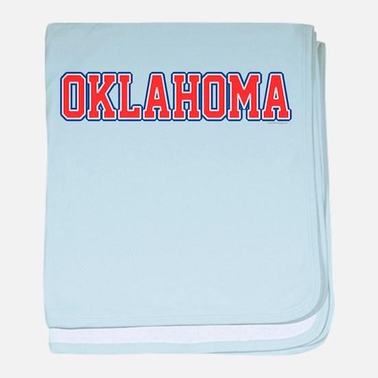 Oklahoma Jersey Font baby blanket