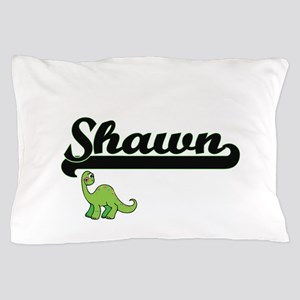Shawn Classic Name Design with Dinosau Pillow Case