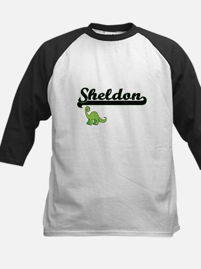 Sheldon Classic Name Design with D Baseball Jersey