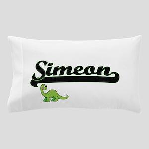 Simeon Classic Name Design with Dinosa Pillow Case