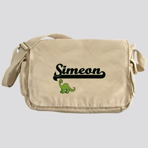 Simeon Classic Name Design with Dino Messenger Bag