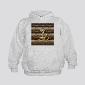 shabby chic vintage anchor Kids Hoodie