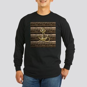 shabby chic vintage anchor Long Sleeve T-Shirt