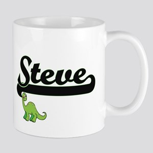 Steve Classic Name Design with Dinosaur Mugs