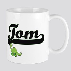 Tom Classic Name Design with Dinosaur Mugs