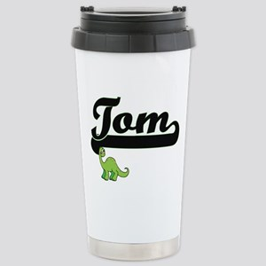Tom Classic Name Design Stainless Steel Travel Mug