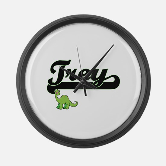 Trey Classic Name Design with Din Large Wall Clock