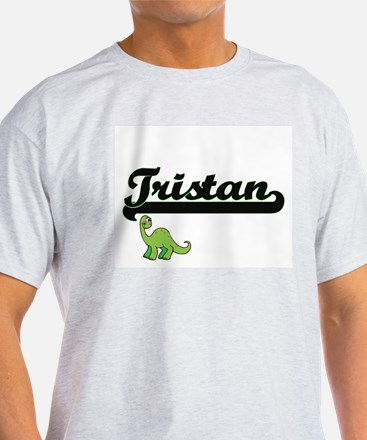 Tristan Classic Name Design with Dinosaur T-Shirt