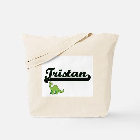Tristan Classic Name Design with Dinosaur Tote Bag