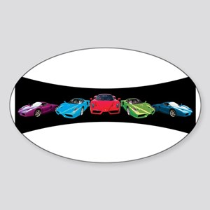 Ferrari Enzo stripe Oval Sticker