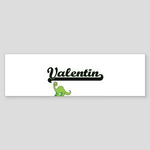 Valentin Classic Name Design with D Bumper Sticker