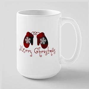 Plaid Mittens Merry Christmas Mugs