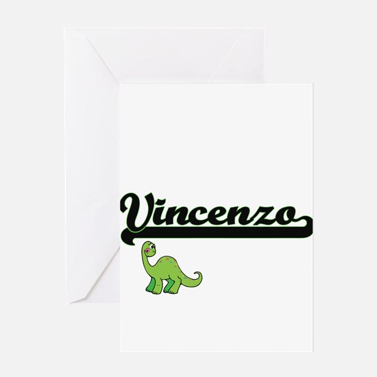 Vincenzo Classic Name Design with D Greeting Cards