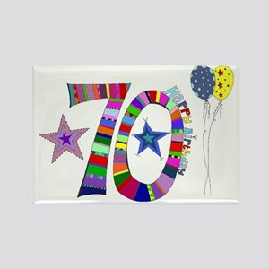 70th Birthday Rectangle Magnet