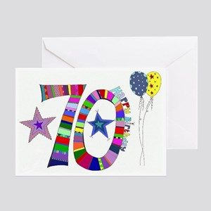 70th Birthday Greeting Card