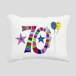70th Birthday Rectangular Canvas Pillow