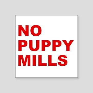 No Puppy Mills Sticker