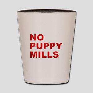 No Puppy Mills Shot Glass