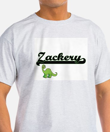 Zackery Classic Name Design with Dinosaur T-Shirt