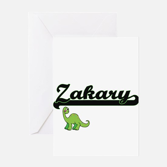 Zakary Classic Name Design with Din Greeting Cards