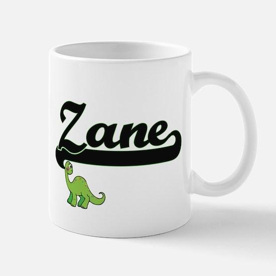 Zane Classic Name Design with Dinosaur Mugs