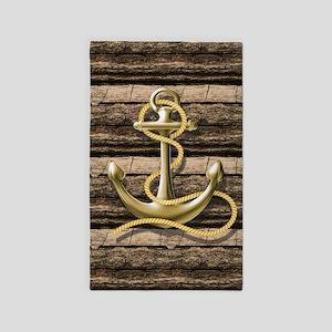 shabby chic vintage anchor Area Rug
