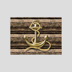 shabby chic vintage anchor 5'x7'Area Rug