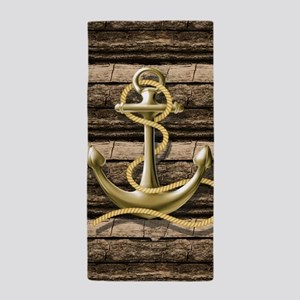 shabby chic vintage anchor Beach Towel