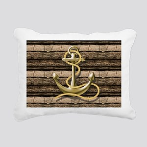 shabby chic vintage anch Rectangular Canvas Pillow