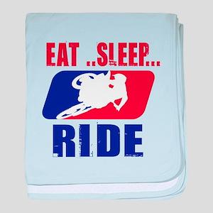 Eat sleep ride 2013 baby blanket
