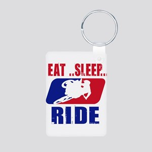 Eat sleep ride 2013 Keychains